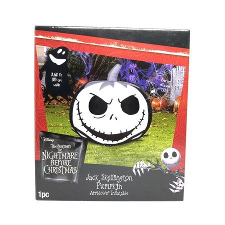 The Nightmare Before Christmas Airblown Jack Skellington Pumpkin Halloween Decoration](Halloween Decorated Pumpkin Ideas)