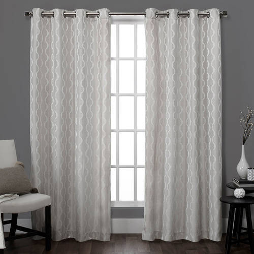 Exclusive Home Baroque Textured Linen Look Jacquard Window Curtain Panel Pair with Grommet... by Amalgamated Textiles