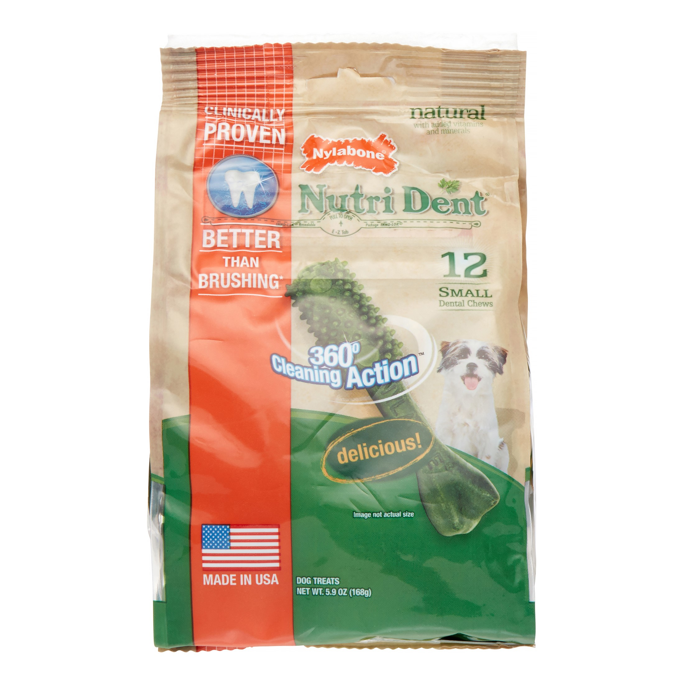Nylabone Nutri Dent Small Original Flavored Extra Fresh Dog Treat bone, 5.9 Ounce