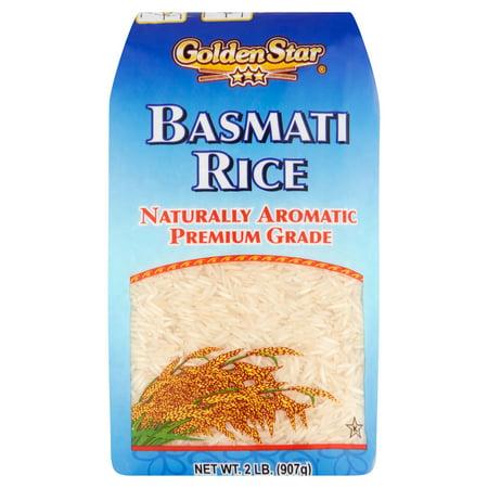 Golden Star Naturally Aromatic Premium Grade Basmati Rice  2 Lb