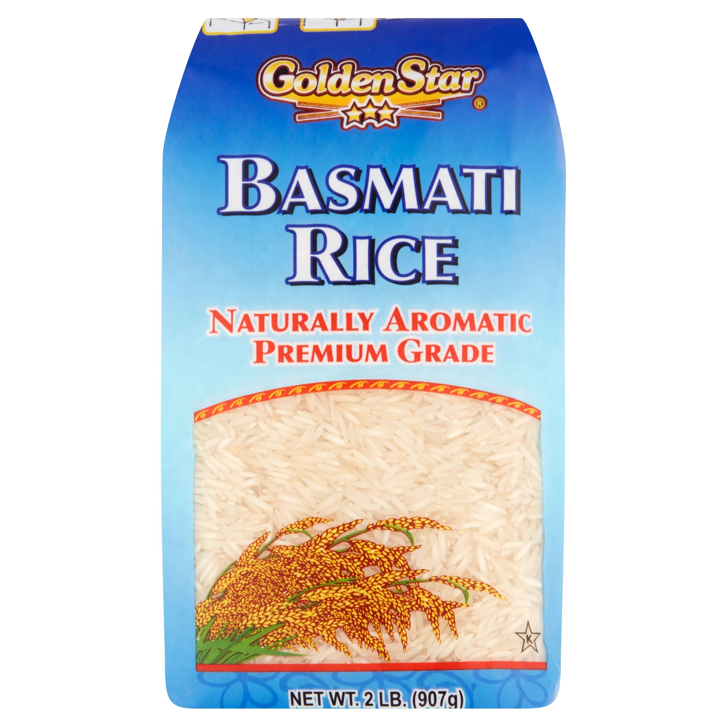 Golden Star Naturally Aromatic Premium Grade Basmati Rice, 2 lb