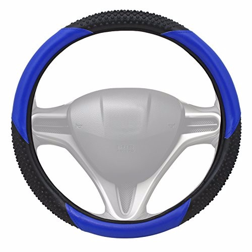 Premium Slip-On Steering Wheel Cover Grip Universal Fit, Blue