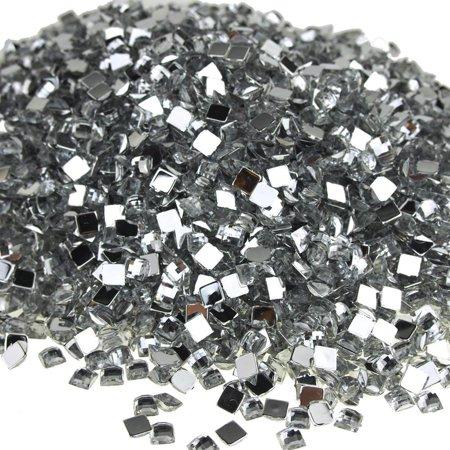 square-shaped acrylic rhinestone diamonds, 6mm