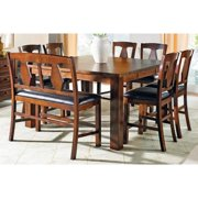 Greyson Living Lansing Medium Oak and Leatherette Counter-height Dining Sets  by