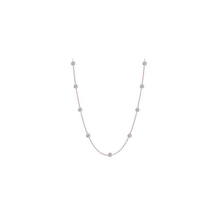 Diamonds Necklace in 14kt Rose Gold 0.25 CT Total Diamonds - image 2 de 2