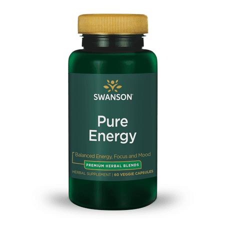 Swanson Pure Energy Herbal Blend Vegetable Capsules, 30 Ct Formula Herbal Blend 60 Capsules