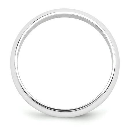 Platinum 5mm Half-Round Featherweight Band Size 8 - image 1 de 3