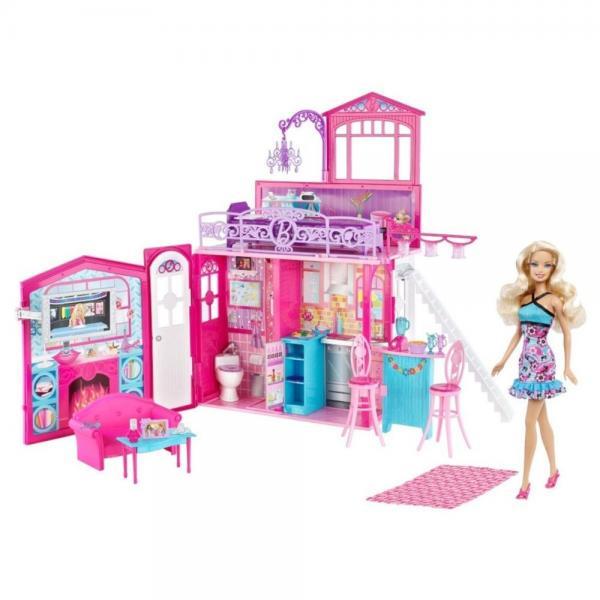 Barbie Glam House & Doll Set by Mattel