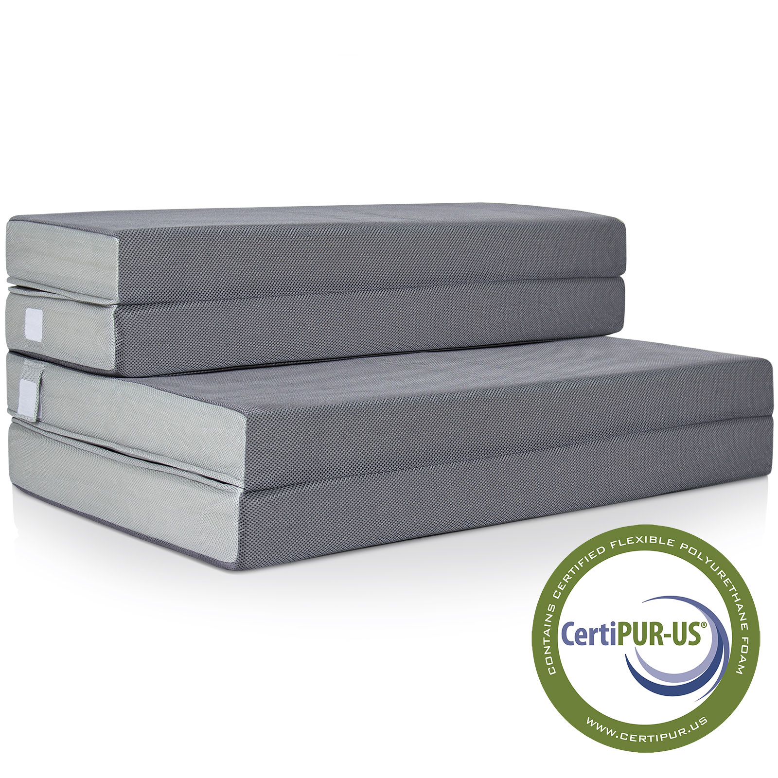 Best Choice Products 4in Thick Folding Portable Queen Mattress Topper w/ High-Density Foam, Washable Cover