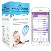 Easy@Home 25 Ovulation Test Kit, Simplest Ovulation and Period Tracking, Powered by Premom Ovulation Predictor iOS and Android App, 25 LH Tests