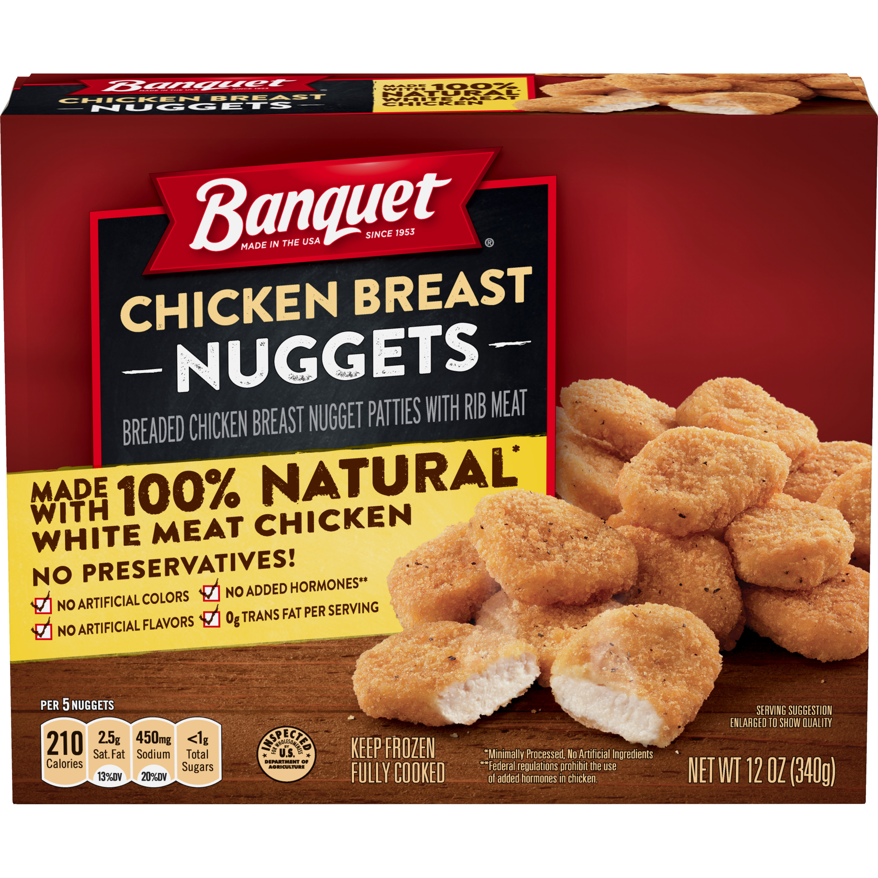 Banquet Chicken Breast Nuggets, 12 Ounce
