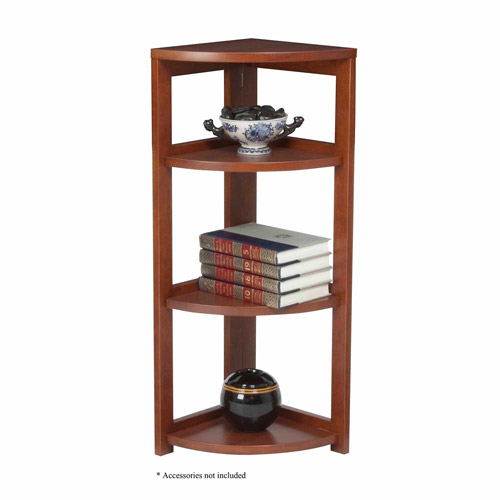 "Regency Seating 34"" 3-Shelf High Corner Folding Bookcase"