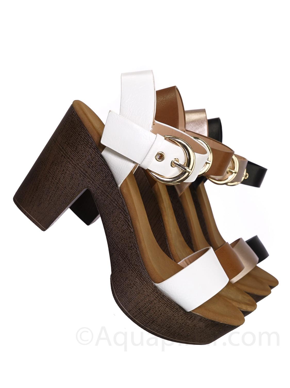 Top Moda GEORGE-1 Womens Classic Style Stiletto Heel Platform Pumps Size:6 Color:BLACK