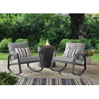 Mainstays Asher Springs 2-Pc Steel Cushioned Rocking Chair Set