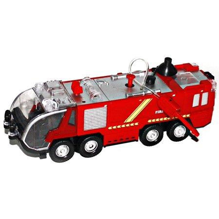 - Bezrat Mini Electric Fire Truck Battery Operated Bump and Go Toy Truck w/ Flashing Lights, Goes Around and Changes Directions With Sounds And Sirens. Great Gift Toys for Kids (colors may vary)