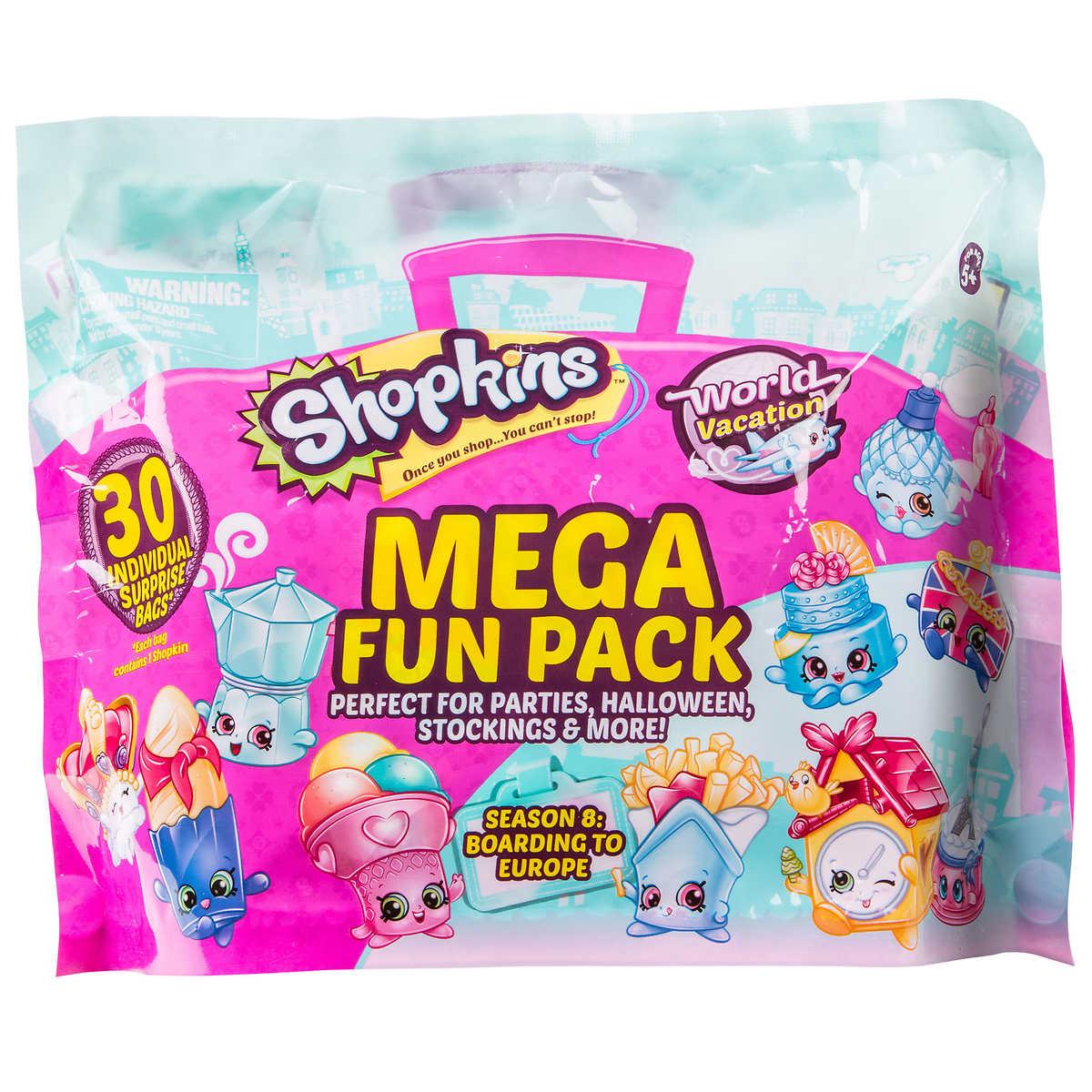 Mega Fun Blind Bags Pack 30 Count - Shopkins 30 Individual Surprise Bags Exclusive Series