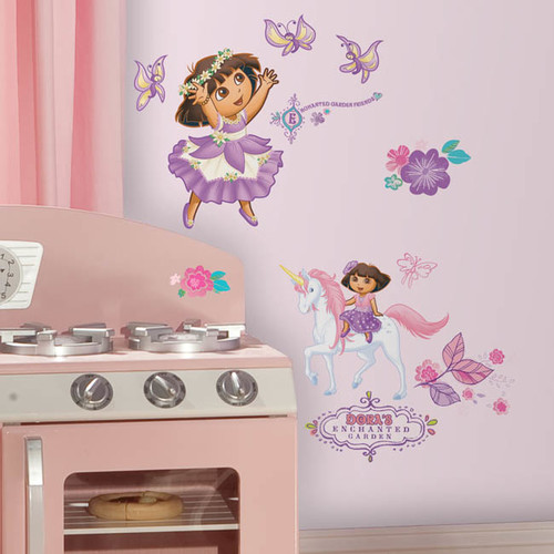 Wallhogs Dora the Explorer Enchanted Forest Cutout Wall Decal