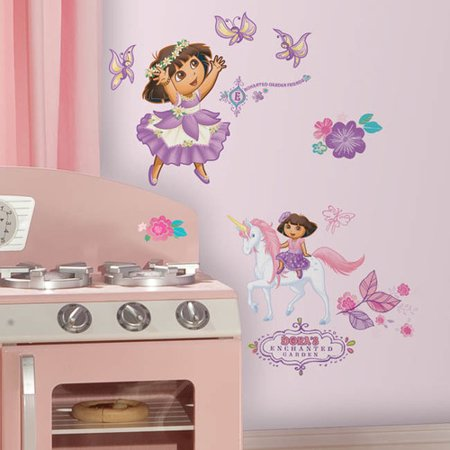 Dora The Explorer Wall Decor (Wallhogs Dora the Explorer Enchanted Forest Cutout Wall Decal)