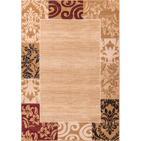 well woven dulcet damask transitional area rug ivory