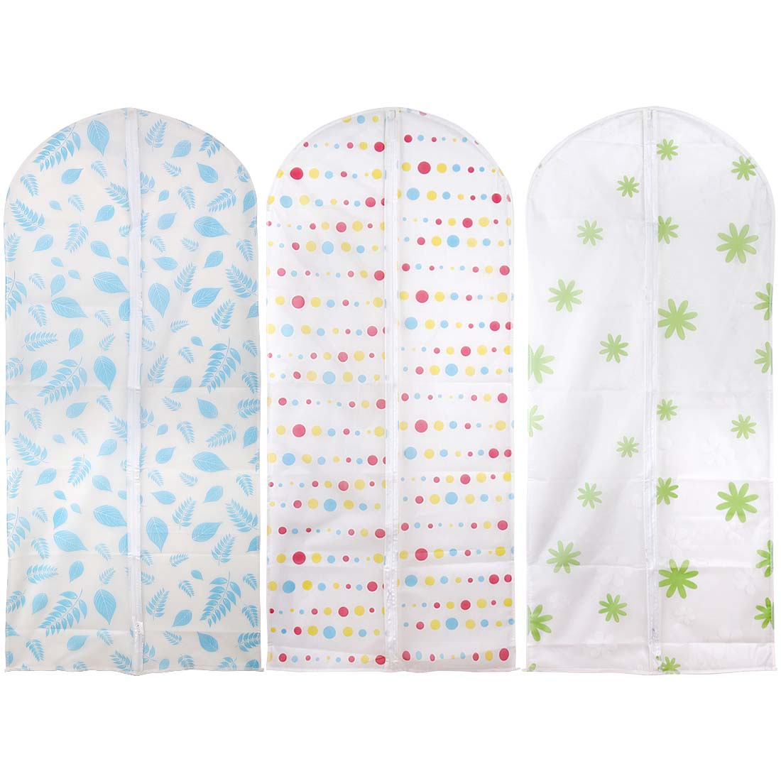 Avery Barn 3pc Various Design PEVA Closet Garment Suit Dress Cover Protector