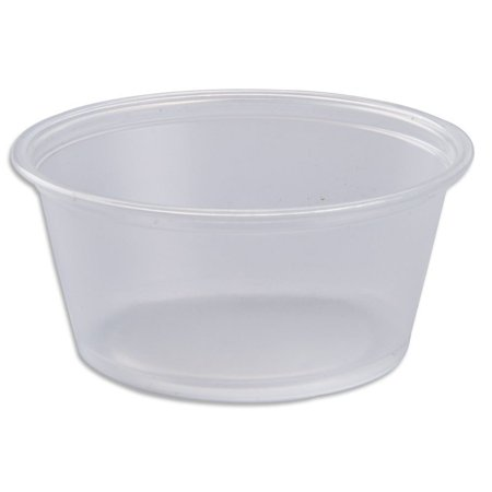 Dart 325PC, 3.25 Oz Conex Clear Complements Portion Polypropylene Container, Plastic Condiment Cups with Clear Lids, Souffle Portion, Jello Shot Cups, Salad Dressing, Sauce Containers (100)