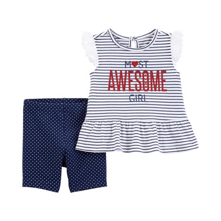 Top and Shorts Outfit, 2 Piece Set (Baby Girls)](Cool Kid Outfits)