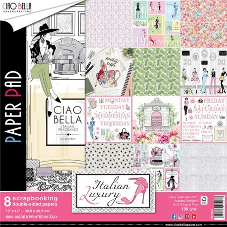 Ciao Bella CBP009 Italian Luxury Paper Pack, 12 in. - Pack of 8