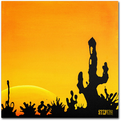 "Trademark Fine Art ""Saguaro Sunset"" Canvas Art by Roderick Stevens"
