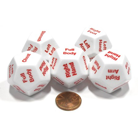 Koplow Games 5 x D12 12 Twelve Sided 28mm Body Part Critical Hit Location Dice Die RPG D&D - Body Parts Halloween Game