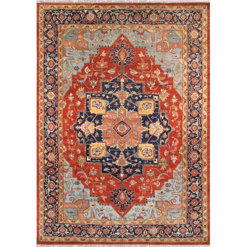 Pasargad Serapi Hand-Knotted Rust/Navy Area Rug