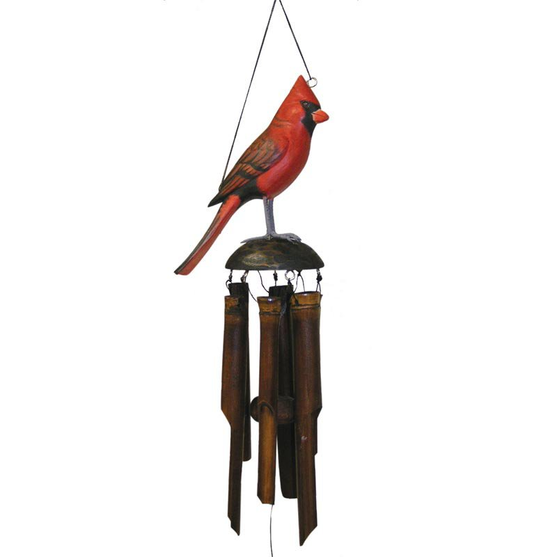 Cohasset Cardinal 18 Inch Wind Chime by Gold Crest Distributing LLC