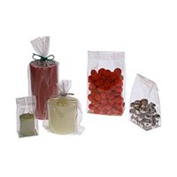 JAM Cello Bags, Large, 4 x 2.5 x 9.5, Clear, 100/Pack