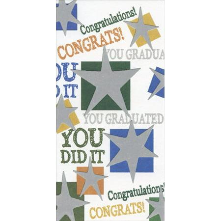 Freedom Greetings Silver Stars Congratulations Graduation Money Holder