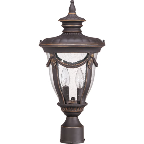 Nuvo Philippe 2 Light Mid-Size Post Lantern w  Seeded Glass by Supplier Generic