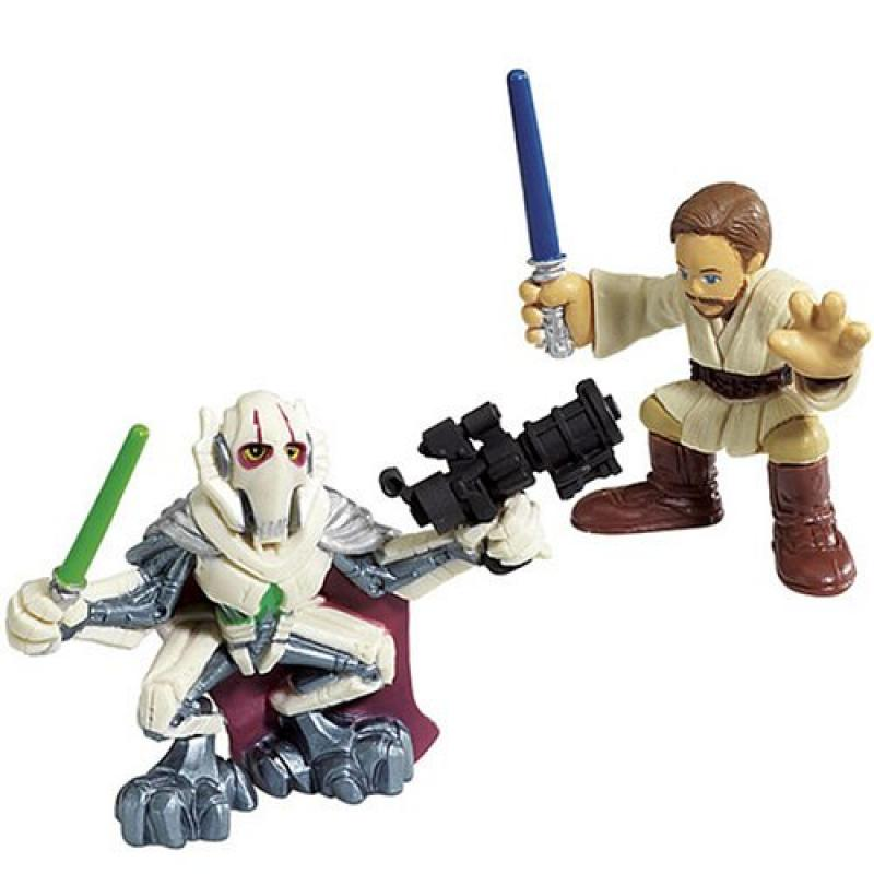 Hasbro 85400 Star Wars Galactic Heroes Mini-Figure 2 Pack Obi-Wan Kenobi & General... by