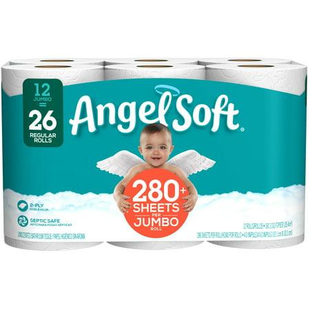 angel soft toilet paper 12 jumbo rolls walmart com