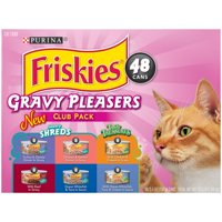 Friskies Gravy Pleasers Variety Club Pack Wet Cat Food, 16.5 lb