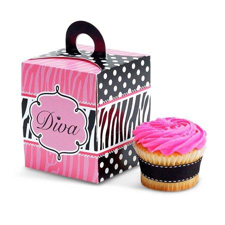 Diva Zebra Print Cupcake Boxes - Wholesale Diva