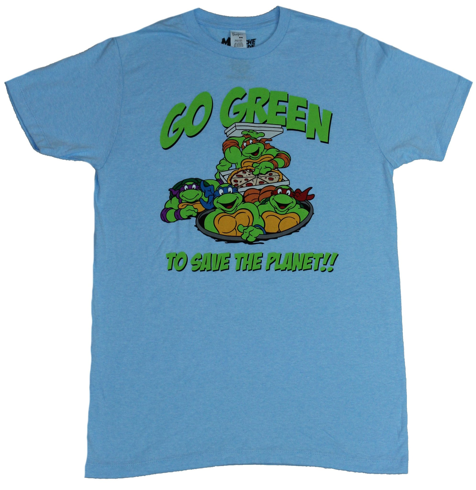 Teenage Mutant Ninja Turtles Mens T-Shirt - Go Green To Save The planet