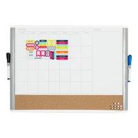U Brands 3-in-1 Dry Erase Calendar Whiteboard, White and Gray, 3214U
