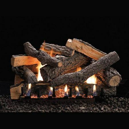 """Vent-Free 24"""" Variable Flame Height Slope Glaze Burner - LP"""