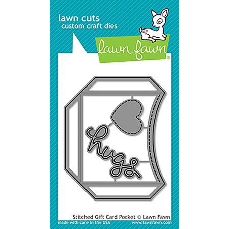 Lawn Cuts Custom Craft Die -Stitched Gift Card Pocket