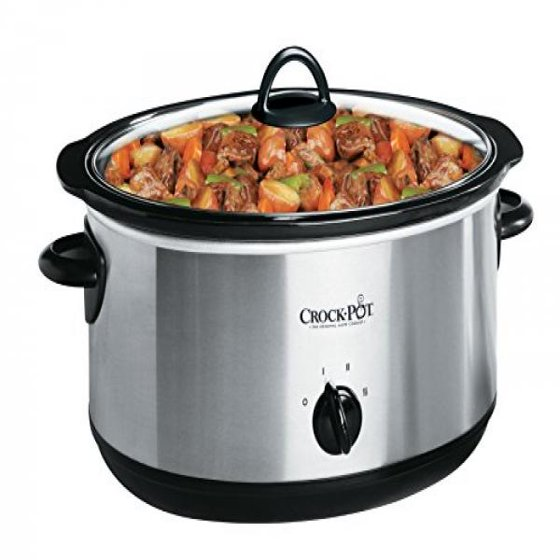 crock pot 4 quart oval manual slow cooker