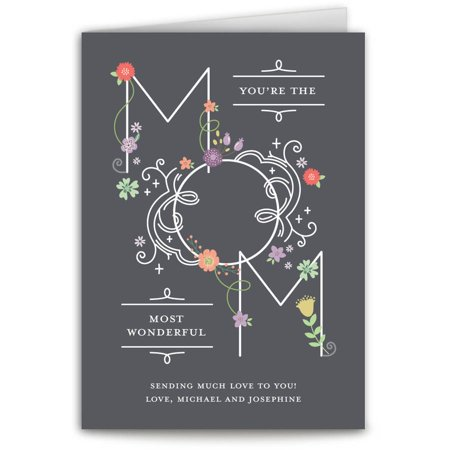 Wonderful Mom Mother's Day Greeting Card](Mother's Day Art Projects)