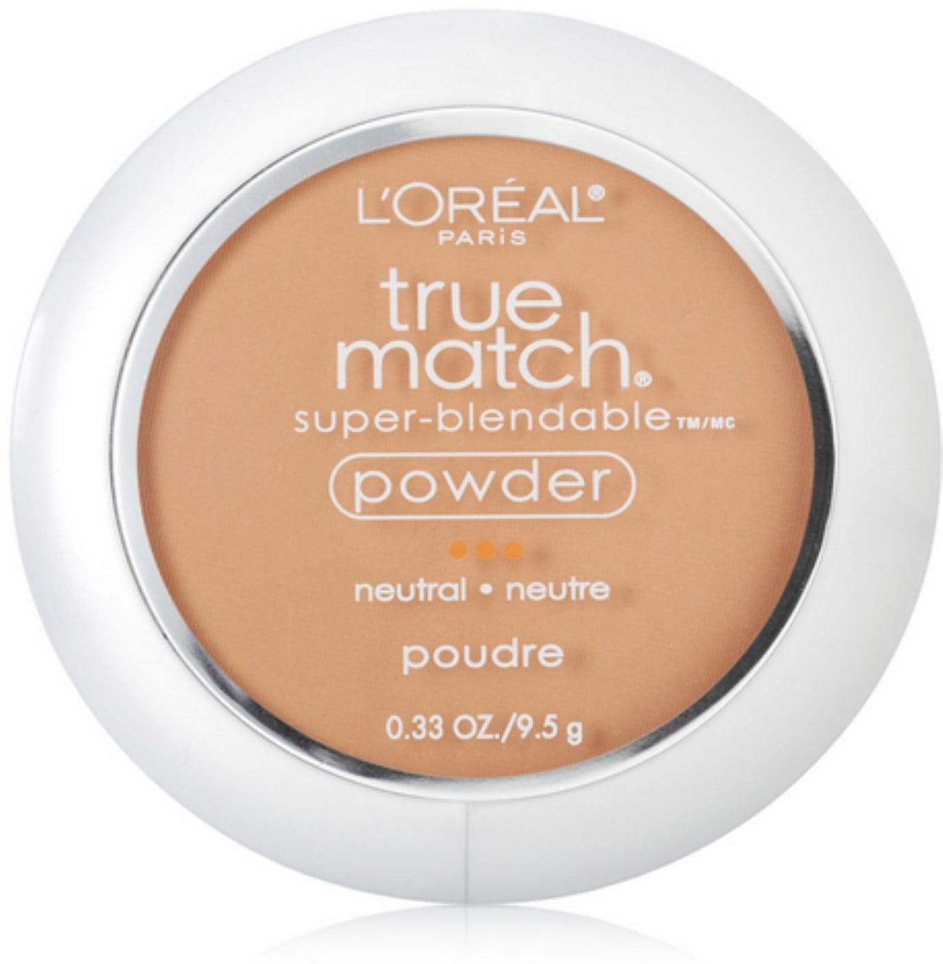L'Oreal  True Match Super-Blendable Powder, Honey Beige [N6], 0.33 oz (Pack of 4)
