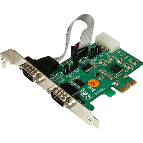 StarTech 2-Port Industrial PCI Express RS232 Serial Card with Power Output and ESD Protection