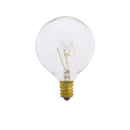 SUNLITE 60W 120V Globe G16.5 E12 Clear Incandescent Light Bulb