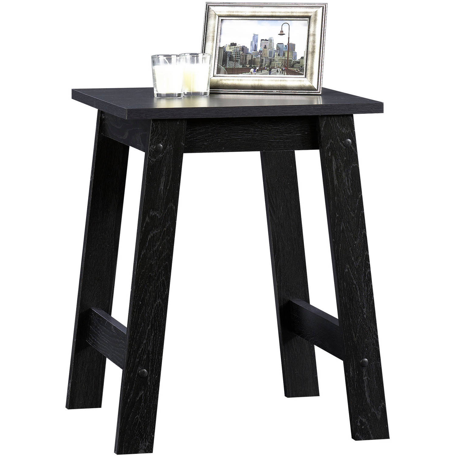 Sauder Beginnings Collection Side Table, Black