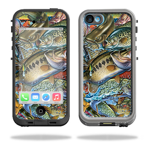 MightySkins Protective Vinyl Skin Decal for LifeProof iPhone 5C Case fre Case wrap cover sticker skins Acid Trippy