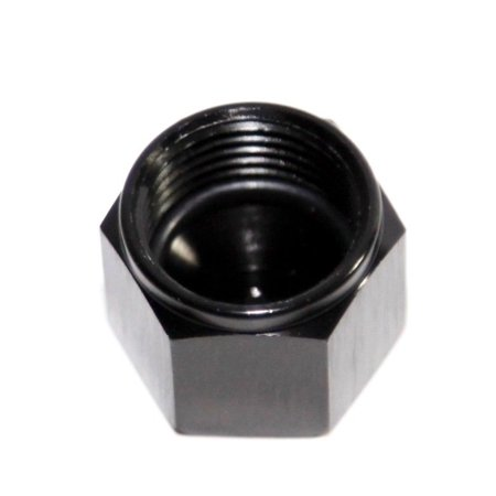 BLACK 8AN AN-8 Flare Cap Block Off Aluminum Anodized Fitting Anodized Block Off Plate